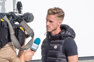 Joe Bennett being interviewed