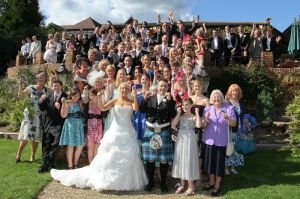 Cheering the Bride and Groom